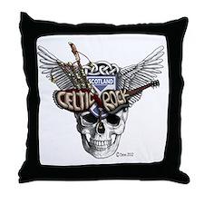 Celtic Rock White Throw Pillow
