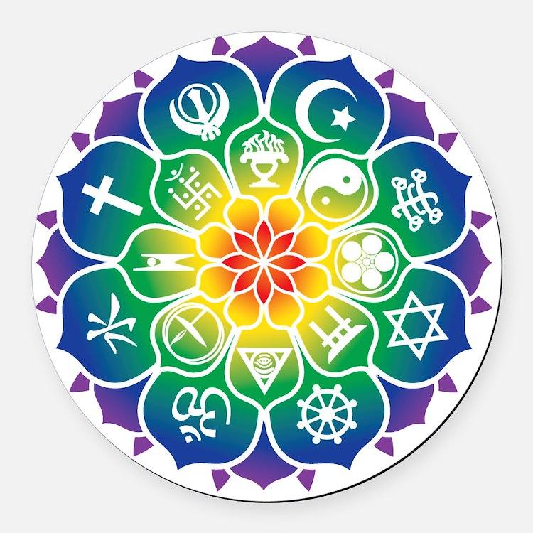 Religions_Mandala_10x10_apparel Round Car Magnet