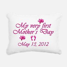 mothers day first2012 pi Rectangular Canvas Pillow