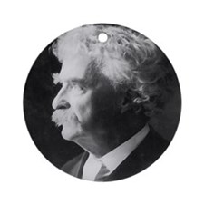 mark twain distressed4 Round Ornament