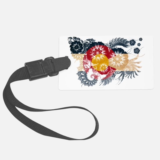 Colorado textured flower Luggage Tag