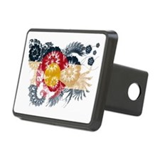 Colorado textured flower Hitch Cover