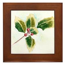 Holly Leaf Framed Tile
