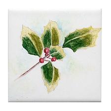 Holly Leaf Tile Coaster