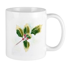 Holly Leaf Mugs