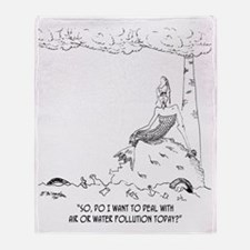 1127_pollution_cartoon Throw Blanket