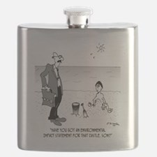6131_beach_cartoon Flask