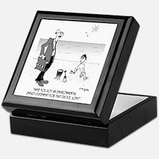 6131_beach_cartoon Keepsake Box