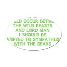 bears2 Oval Car Magnet
