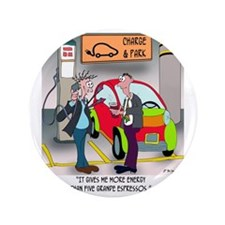 "8644_electric_car_cartoon 3.5"" Button"