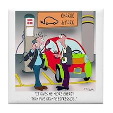 8644_electric_car_cartoon Tile Coaster