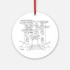 6178_apartment_cartoon Round Ornament