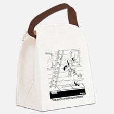 6309_carpenter_cartoon Canvas Lunch Bag