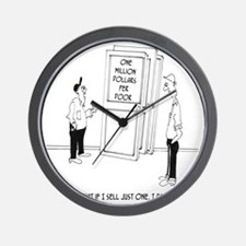 6094_construction_cartoon Wall Clock