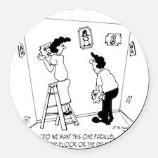 4261_painting_cartoon Round Car Magnet