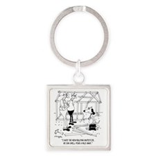 6316_inspector_cartoon Square Keychain
