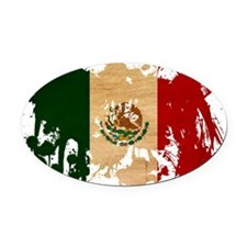 Mexico textured splatter copy Oval Car Magnet
