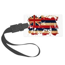 Hawaii textured splatter copy Luggage Tag
