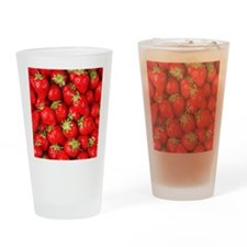 strawberries Drinking Glass
