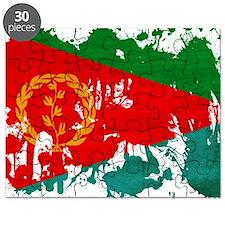 Eritrea textured splatter copy Puzzle