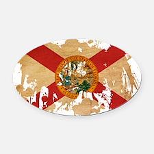 Florida textured splatter copy Oval Car Magnet