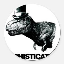 Trex_sophisticated copy Round Car Magnet