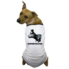 Trex_sophisticated copy Dog T-Shirt