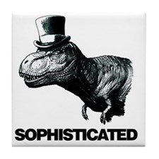 Trex_sophisticated copy Tile Coaster