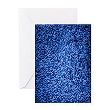 royal-blue-shag-carpeting-texture Greeting Card