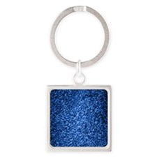 royal-blue-shag-carpeting-texture Square Keychain