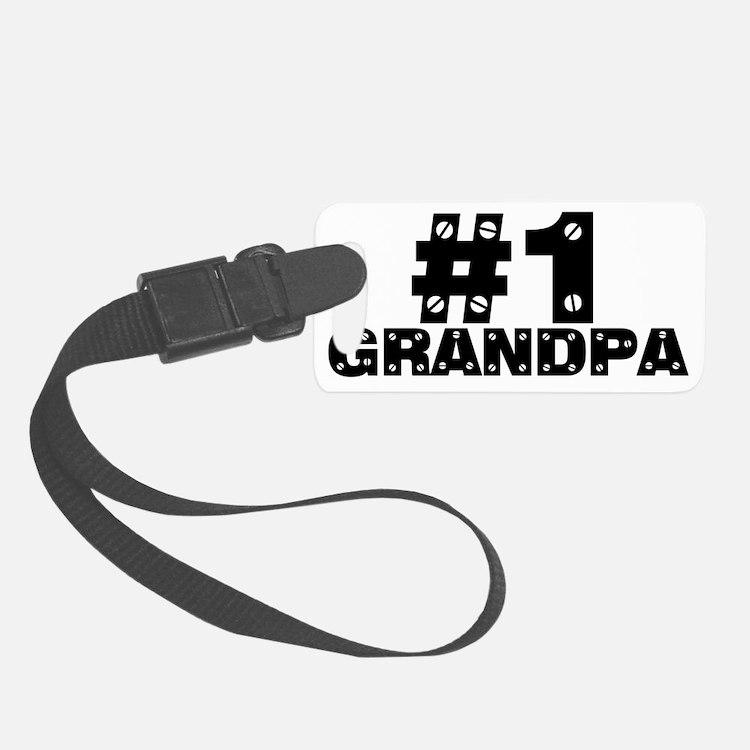 #1grandpa Luggage Tag