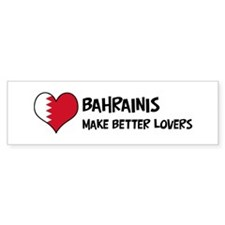 Bahrain - better lovers Bumper Bumper Sticker