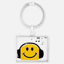 Music Love Smiley Landscape Keychain