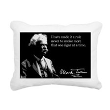 25MarkTwain Rectangular Canvas Pillow