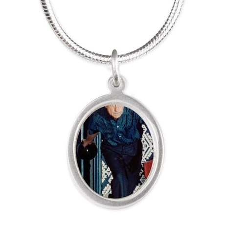 Nixon Bowling Silver Oval Necklace