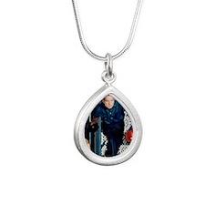 Nixon Bowling Silver Teardrop Necklace