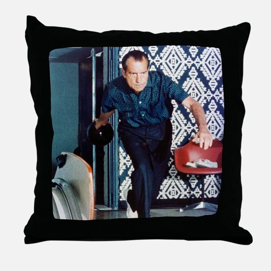 Nixon Bowling Throw Pillow