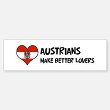 Austria - better lovers Bumper Bumper Bumper Sticker