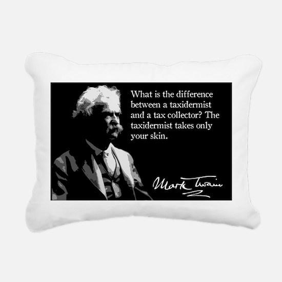 122MarkTwain Rectangular Canvas Pillow