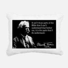 138MarkTwain Rectangular Canvas Pillow