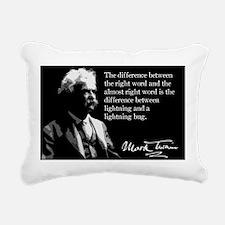 148MarkTwain Rectangular Canvas Pillow