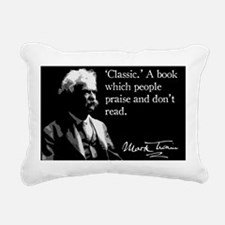 MarkTwain23 Rectangular Canvas Pillow