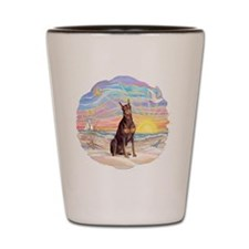 Ocean Sunrise - Red Doberman Shot Glass
