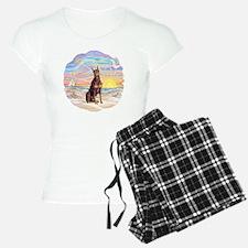 Ocean Sunrise - Red Doberma Pajamas