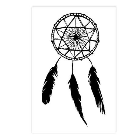 Monotone Dreamcatcher Postcards (Package of 8)