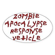 zombie apocalypse magnet white Decal