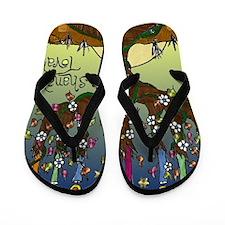 LshanahTovahSquare Flip Flops