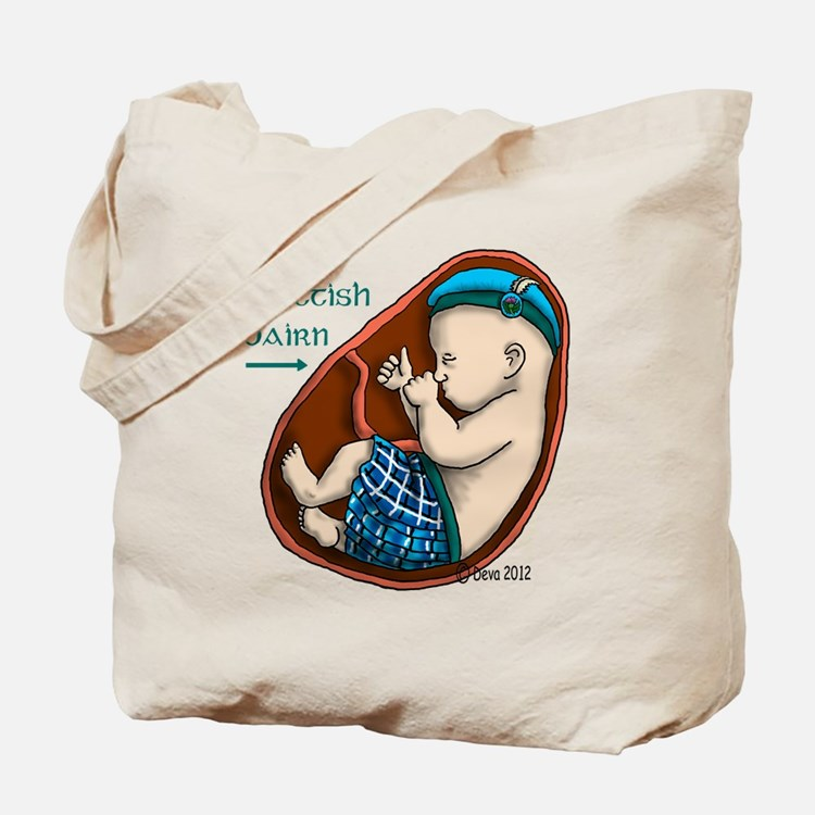 Scottish Baby in Womb Tote Bag