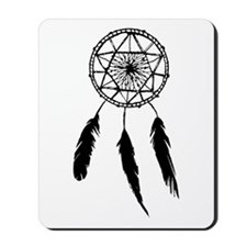 Monotone Dreamcatcher Mousepad