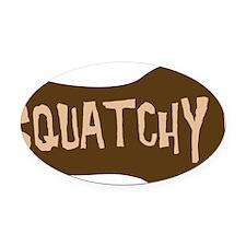 squatchy2hat Oval Car Magnet